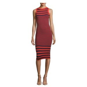 Milly Striped Ottoman Bodycon Dress